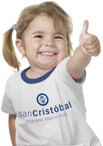 niña feliz-colegio san cristobal